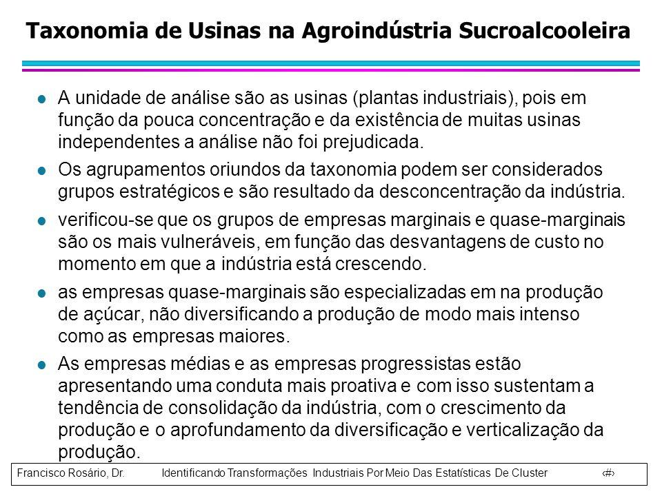 Taxonomia de Usinas na Agroindústria Sucroalcooleira