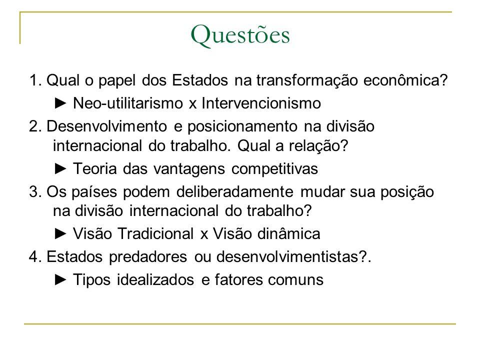 Questões 1. Qual o papel dos Estados na transformação econômica