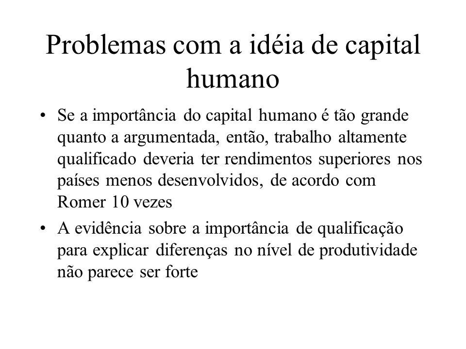 Problemas com a idéia de capital humano