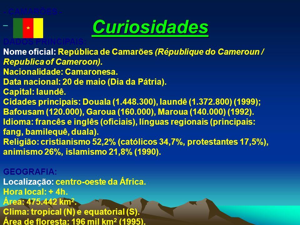 Curiosidades - CAMARÕES -