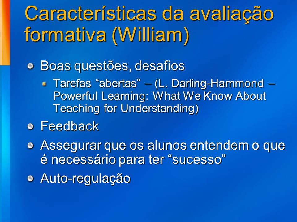 Características da avaliação formativa (William)