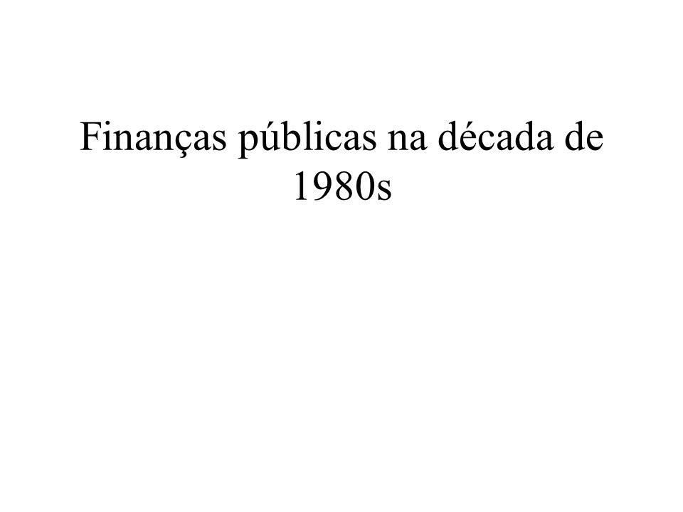 Finanças públicas na década de 1980s