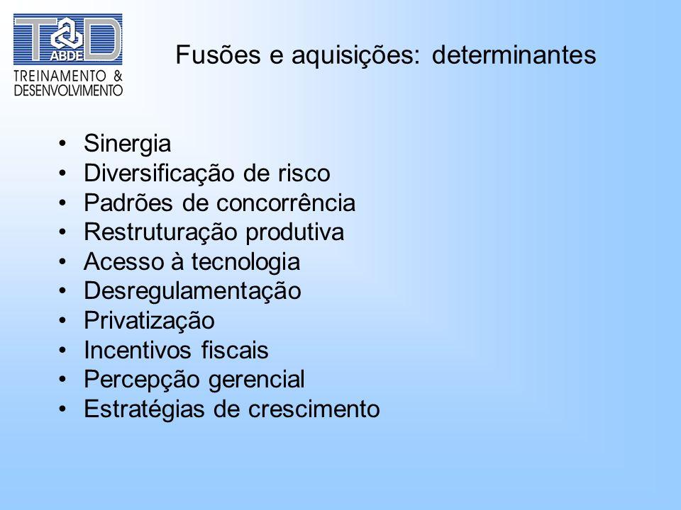 Fusões e aquisições: determinantes