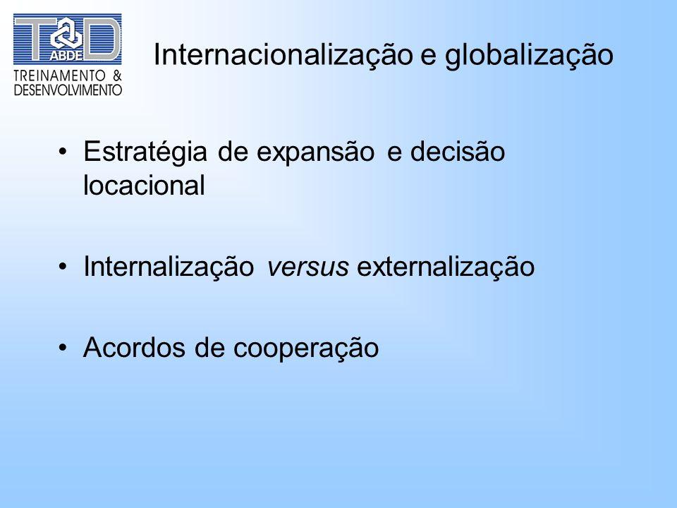 Internacionalização e globalização