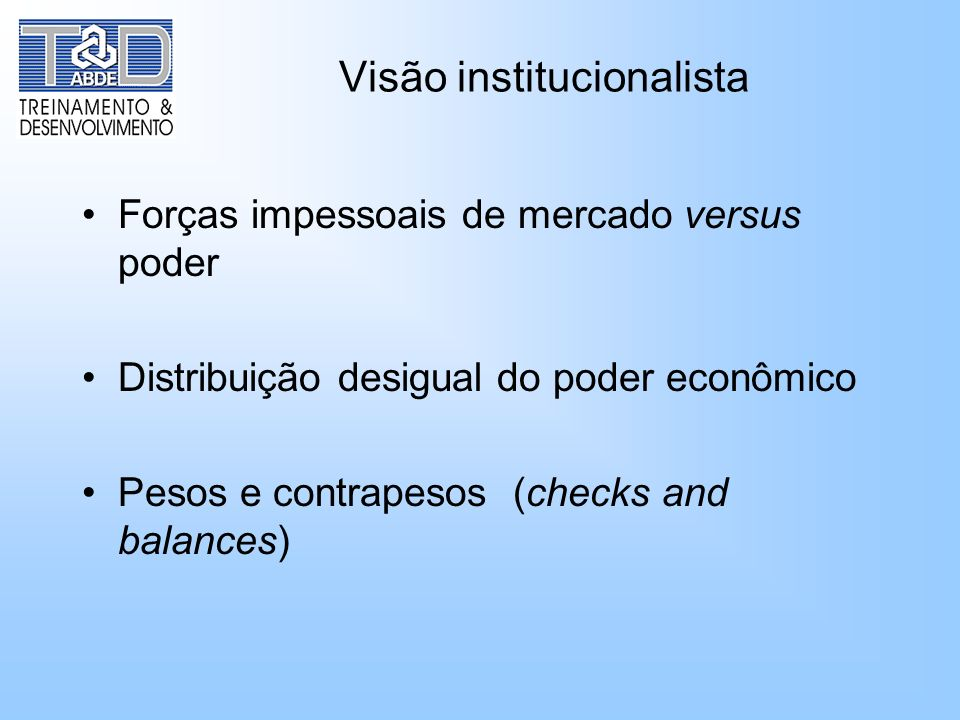 Visão institucionalista