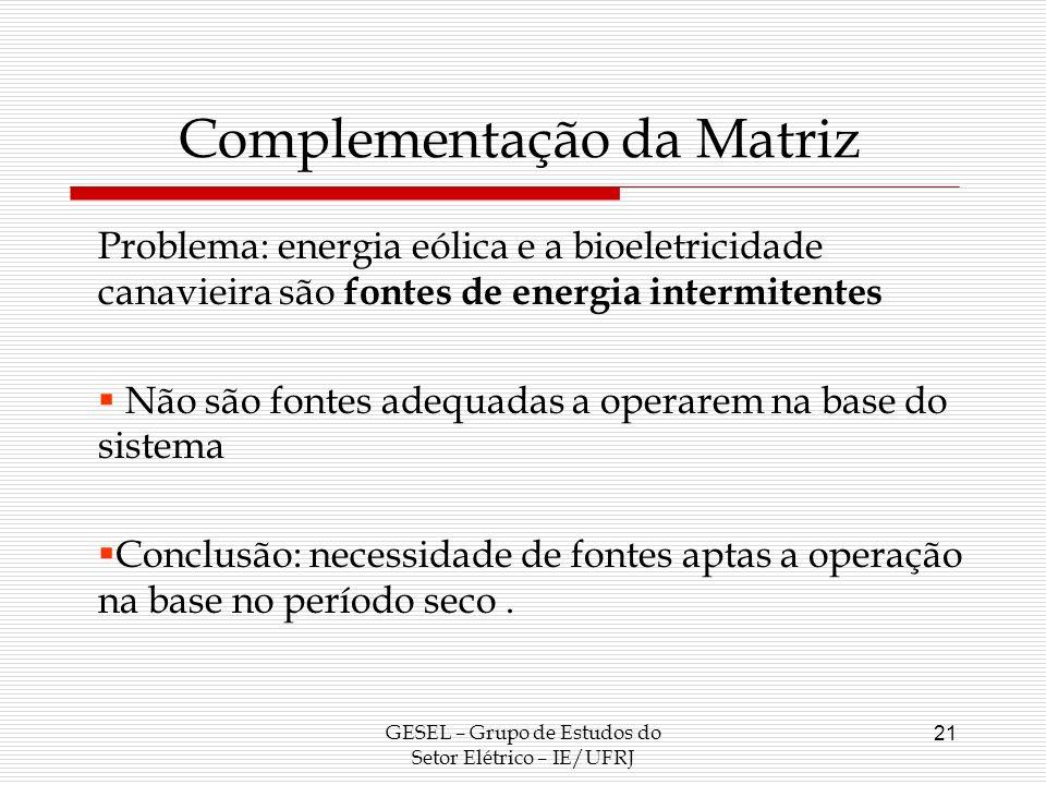 Complementação da Matriz