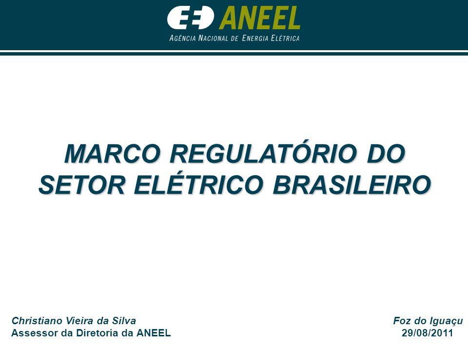 MARCO REGULATÓRIO DO SETOR ELÉTRICO BRASILEIRO