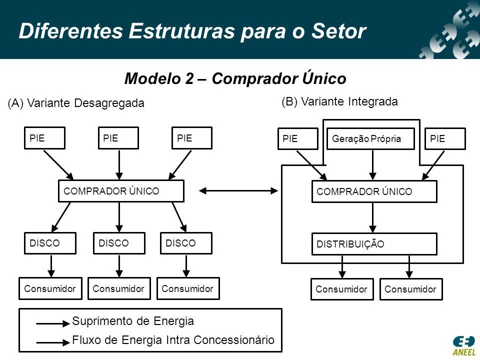 Diferentes Estruturas para o Setor