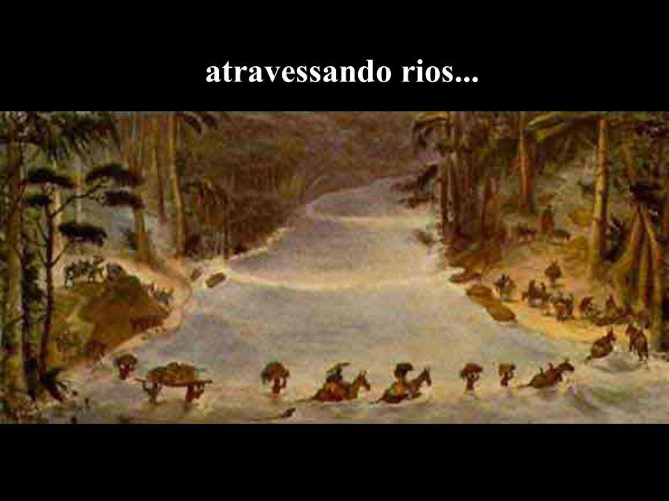 atravessando rios...