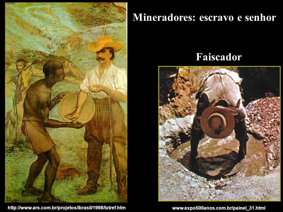 Mineradores: escravo e senhor