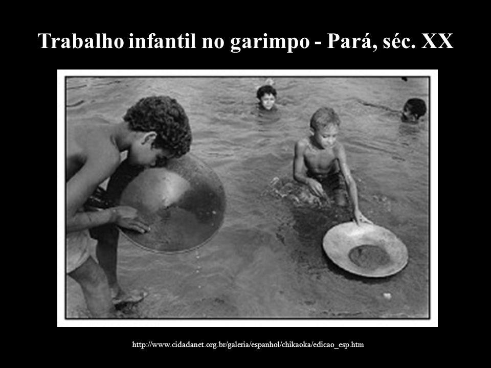 Trabalho infantil no garimpo - Pará, séc. XX