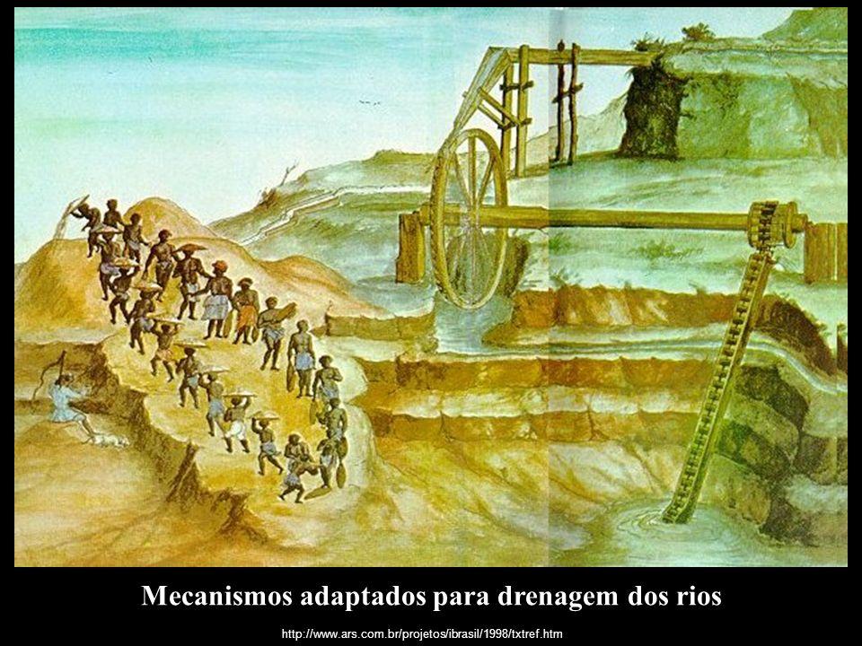 Mecanismos adaptados para drenagem dos rios