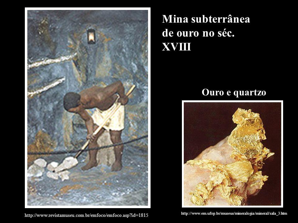 Mina subterrânea de ouro no séc. XVIII
