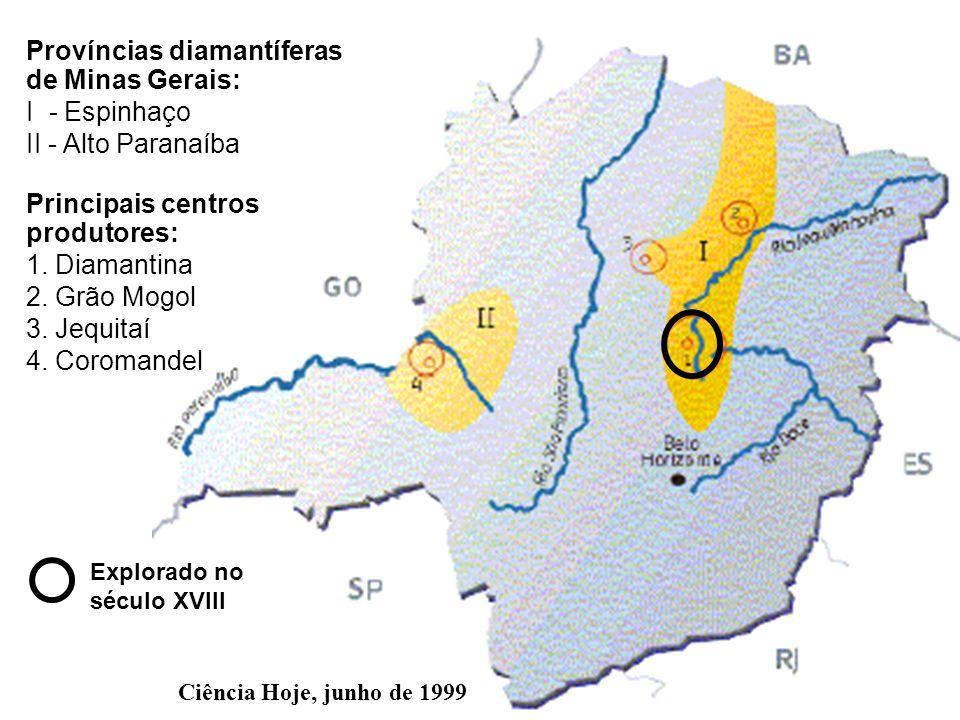 Províncias diamantíferas de Minas Gerais: I - Espinhaço