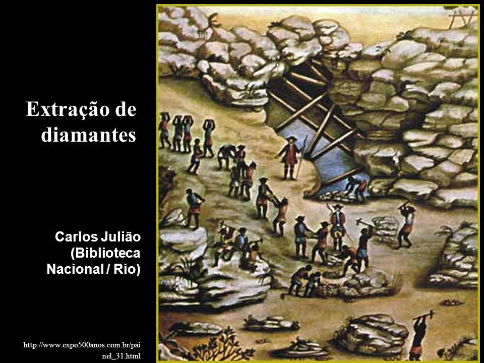 Extração de diamantes Carlos Julião (Biblioteca Nacional / Rio)