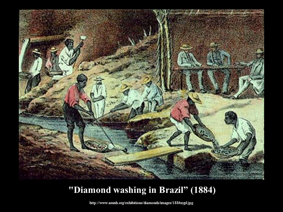 Diamond washing in Brazil (1884)