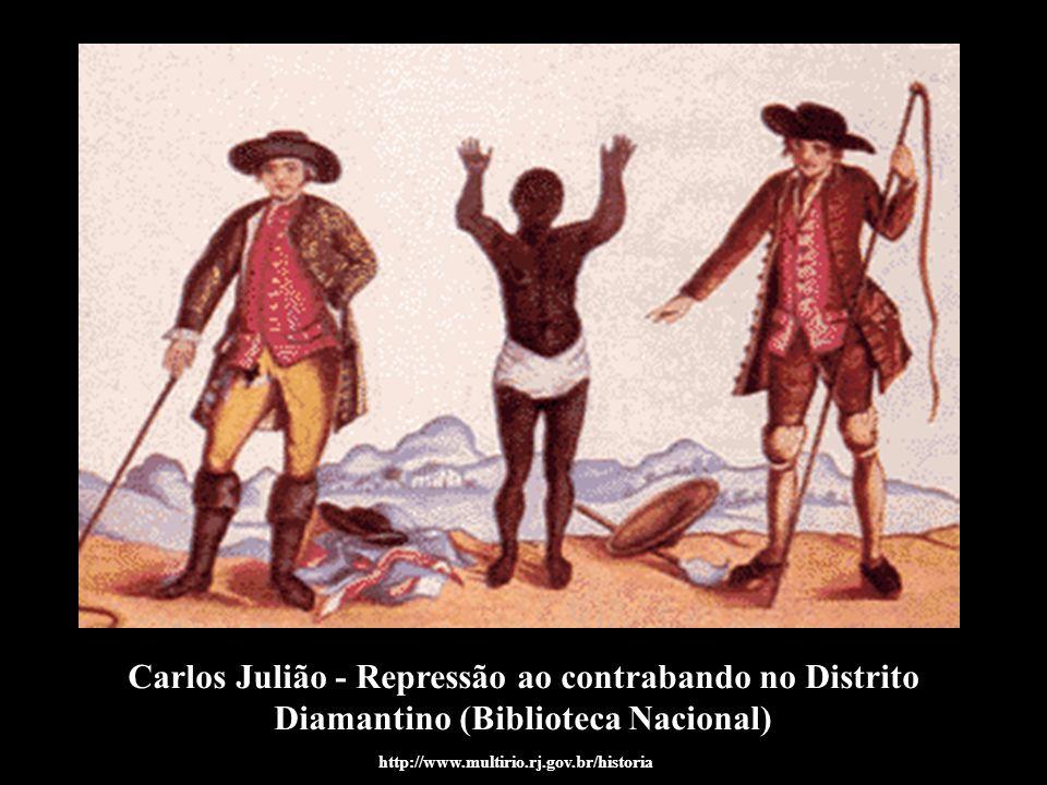 Carlos Julião - Repressão ao contrabando no Distrito Diamantino (Biblioteca Nacional)