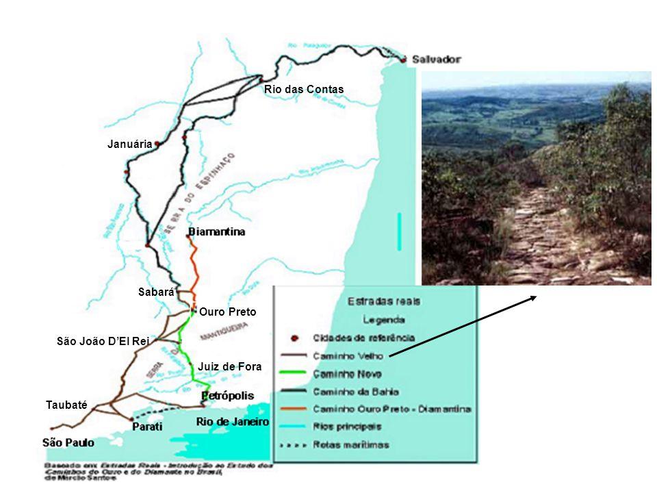 Rio das Contas Ouro Preto Juiz de Fora Taubaté Januária Sabará São João D'El Rei