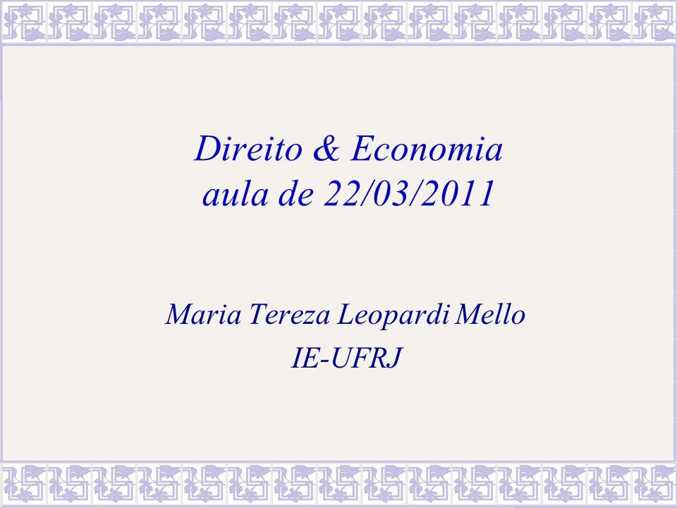 Direito & Economia aula de 22/03/2011