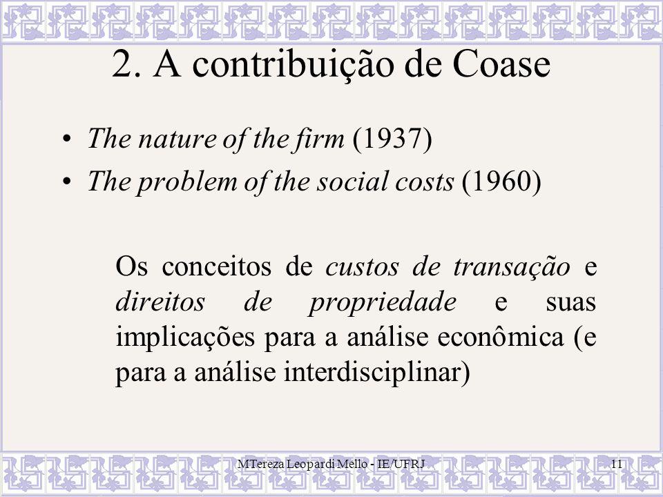 2. A contribuição de Coase