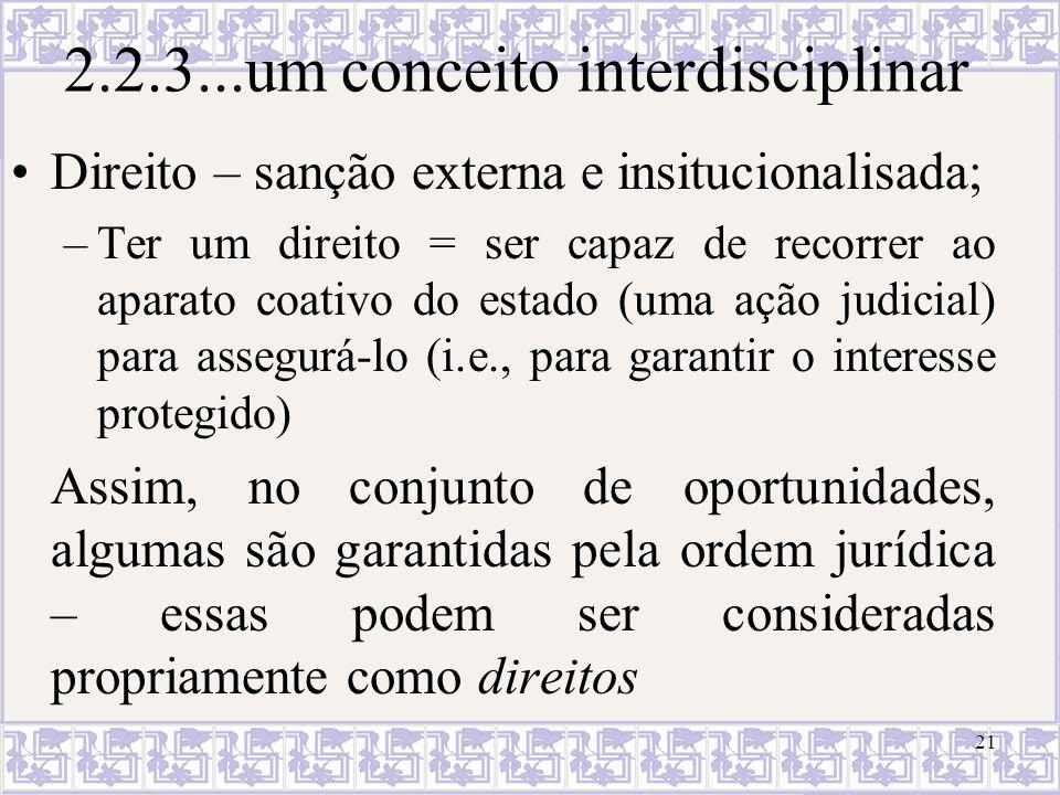 2.2.3...um conceito interdisciplinar