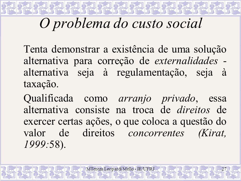 O problema do custo social