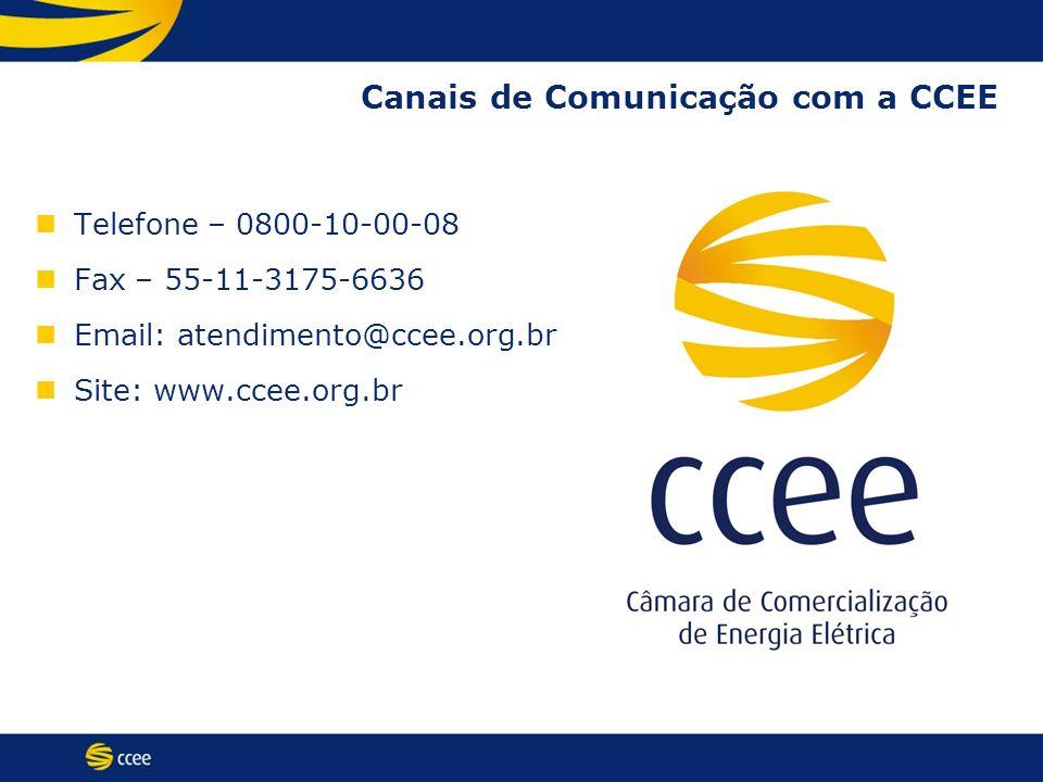 Canais de Comunicação com a CCEE