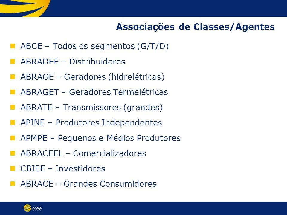Associações de Classes/Agentes