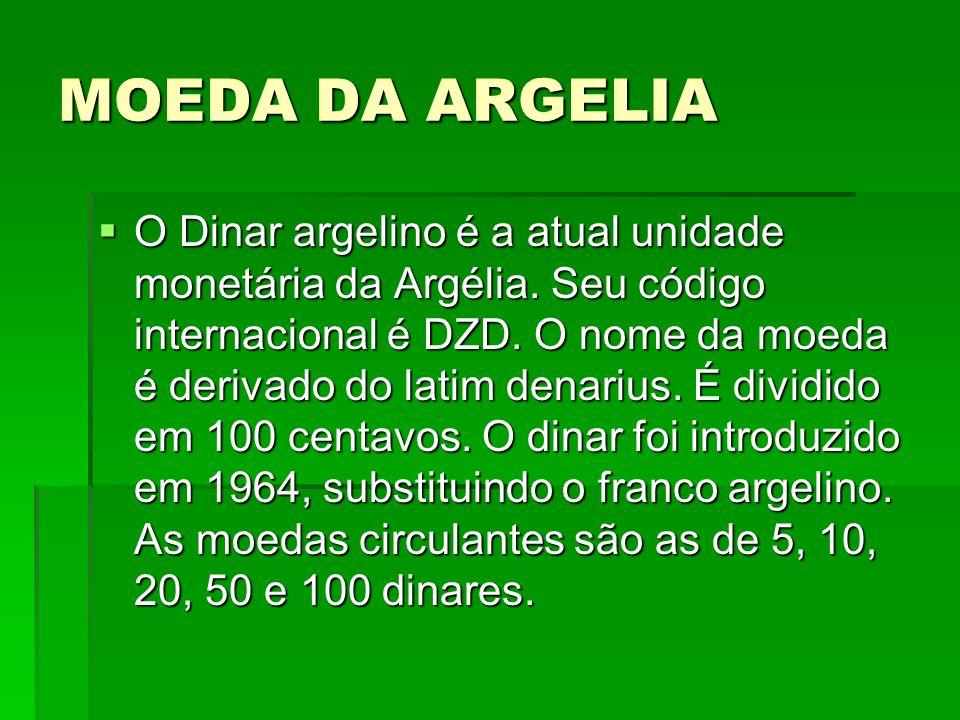 MOEDA DA ARGELIA