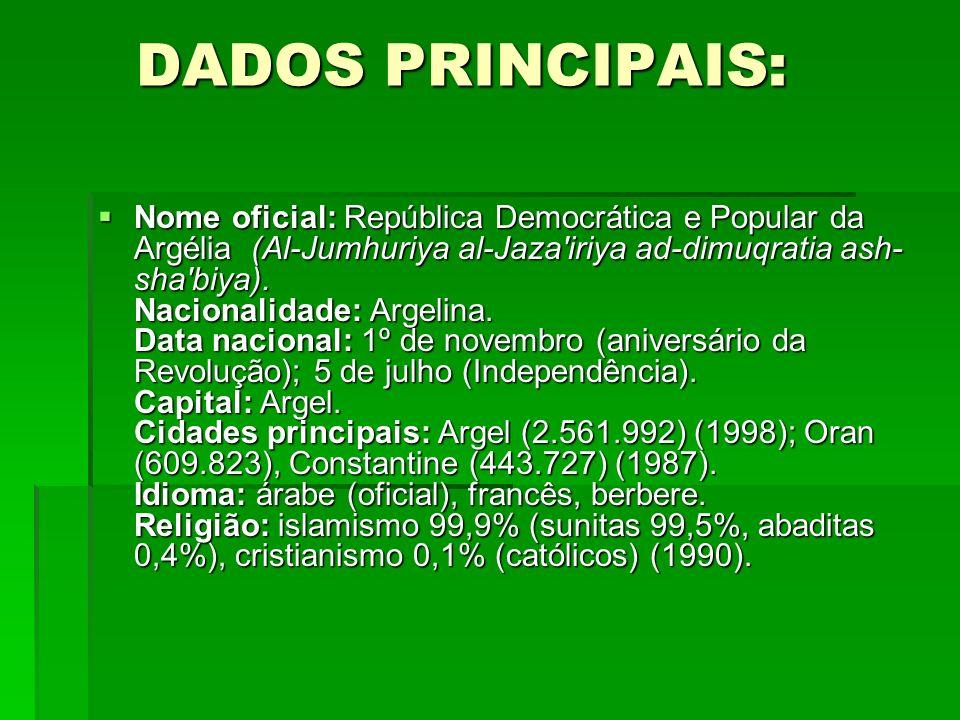 DADOS PRINCIPAIS: