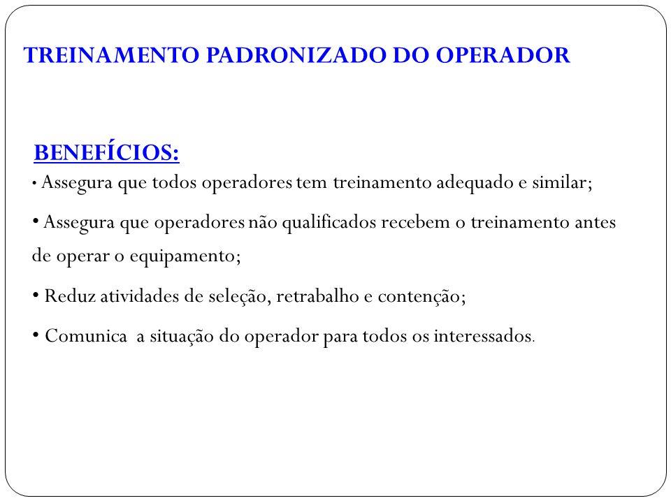 TREINAMENTO PADRONIZADO DO OPERADOR