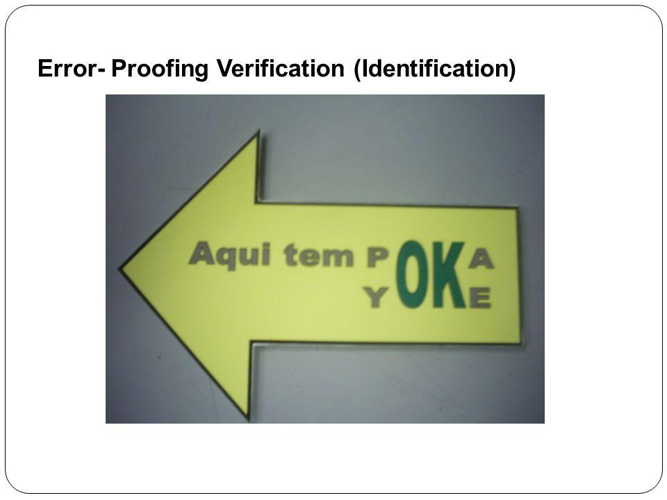 Error- Proofing Verification (Identification)