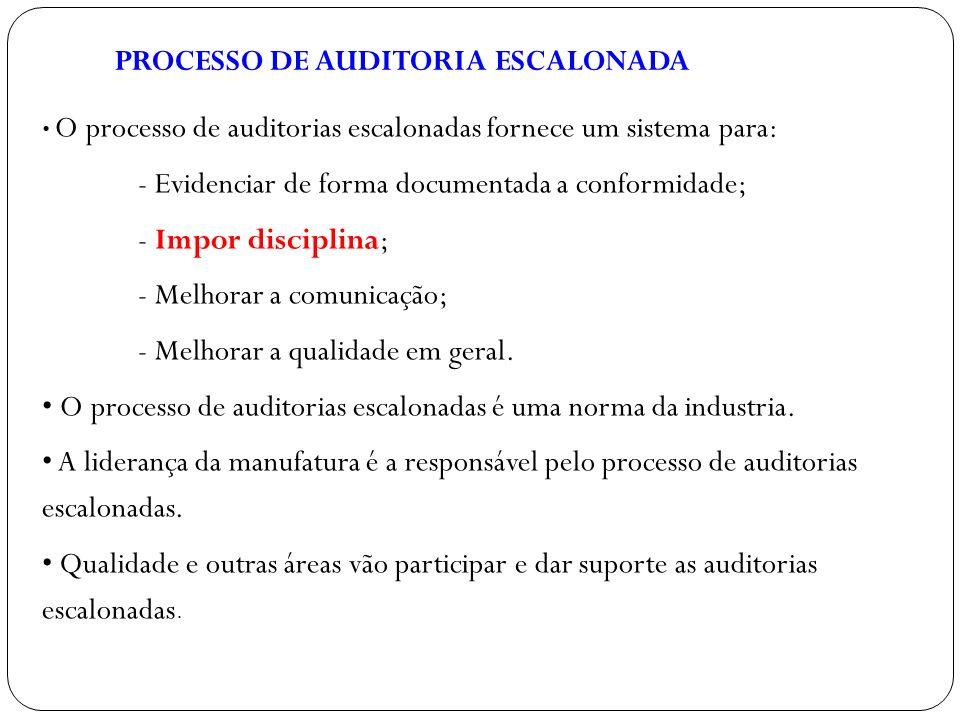 PROCESSO DE AUDITORIA ESCALONADA