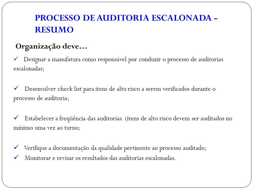 PROCESSO DE AUDITORIA ESCALONADA - RESUMO