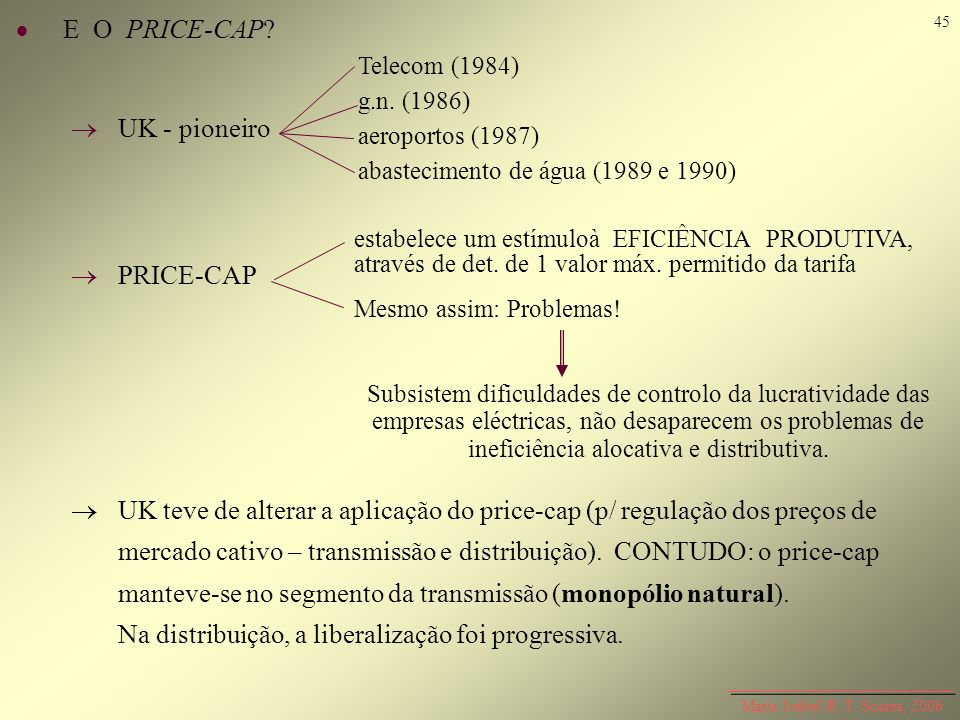 E O PRICE-CAP  UK - pioneiro  PRICE-CAP