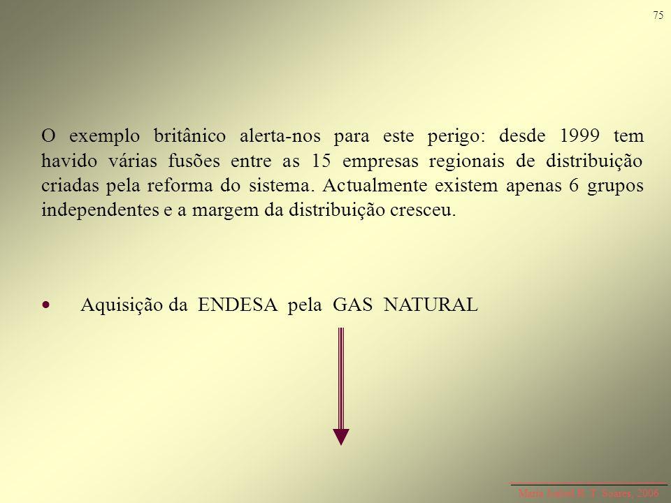  Aquisição da ENDESA pela GAS NATURAL