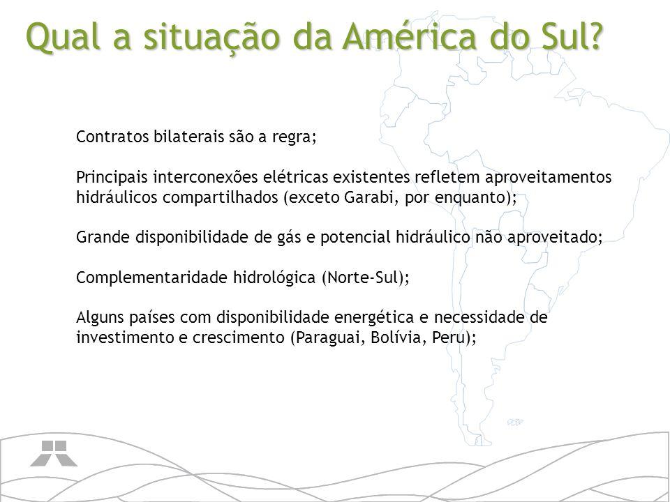 Qual a situação da América do Sul