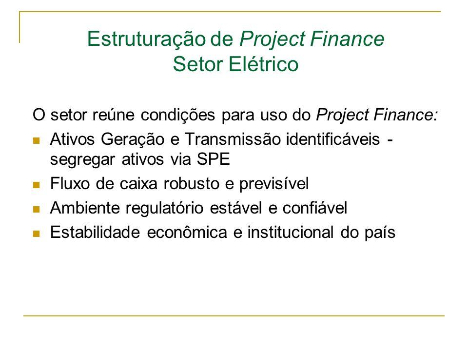 Estruturação de Project Finance Setor Elétrico