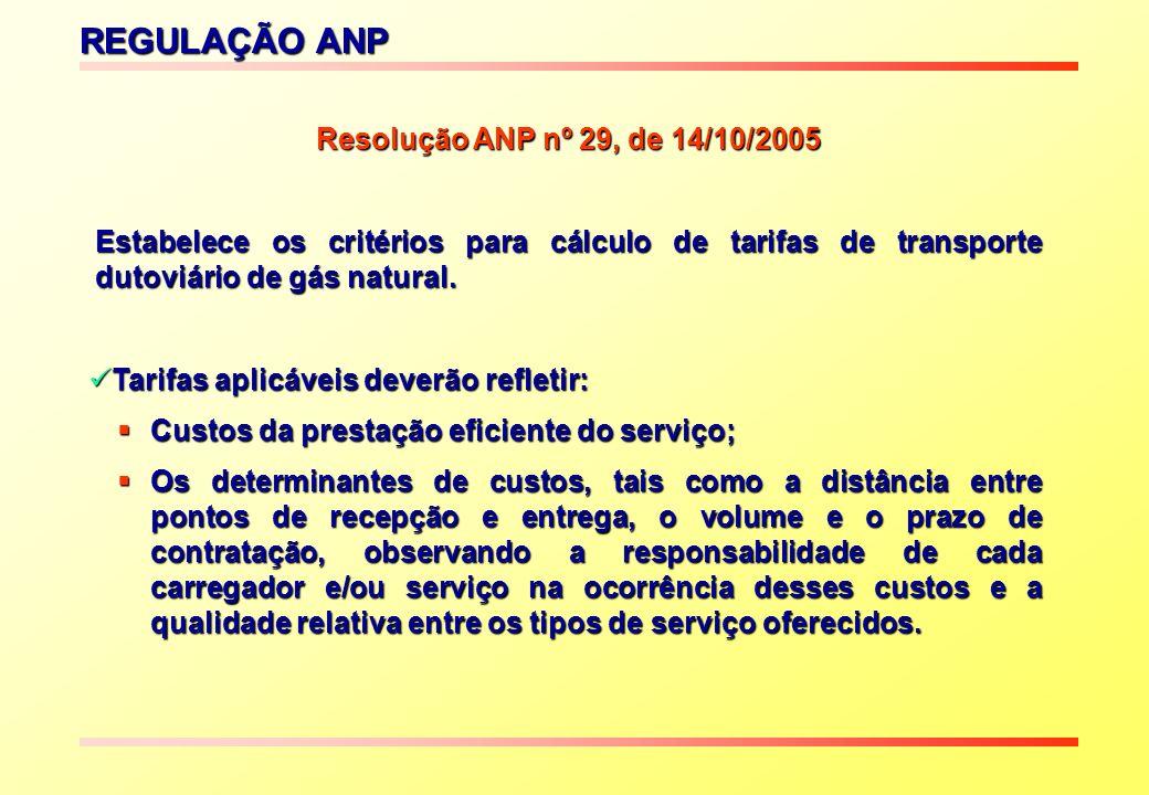 REGULAÇÃO ANP Resolução ANP nº 29, de 14/10/2005