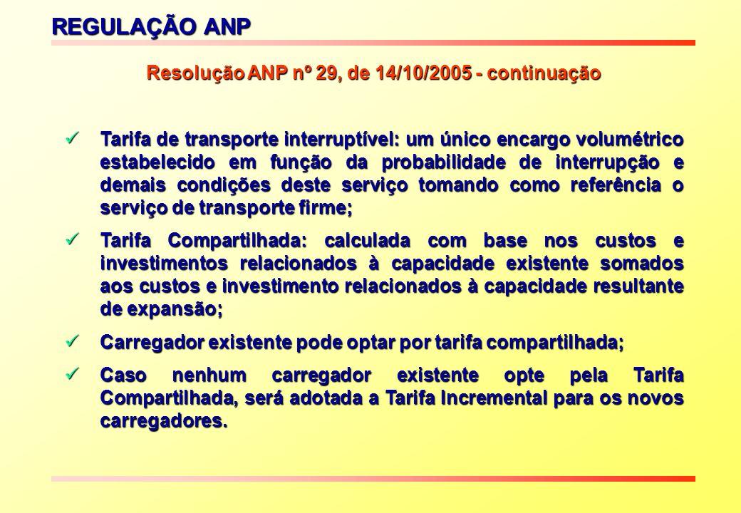 Resolução ANP nº 29, de 14/10/2005 - continuação