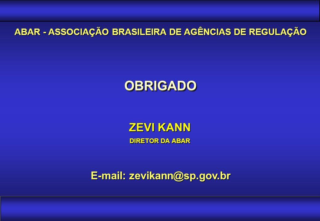 OBRIGADO OBRIGADO ZEVI KANN E-mail: zevikann@sp.gov.br