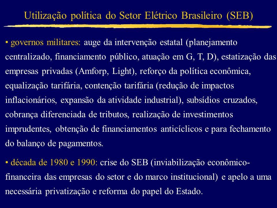 Utilização política do Setor Elétrico Brasileiro (SEB)