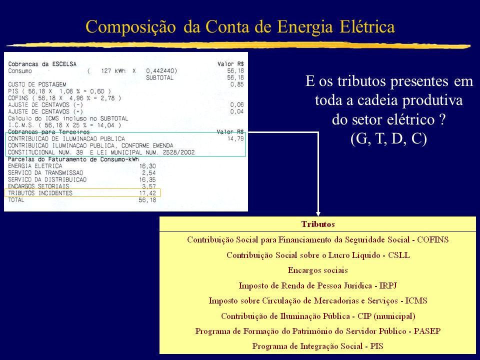 Composição da Conta de Energia Elétrica