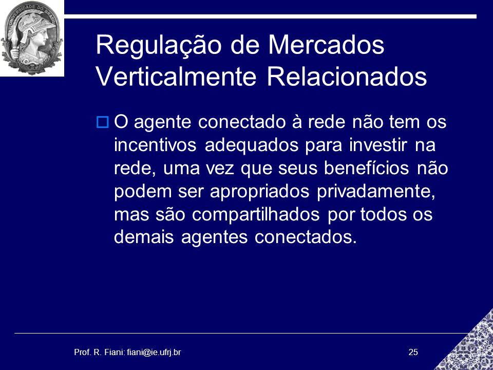 Regulação de Mercados Verticalmente Relacionados
