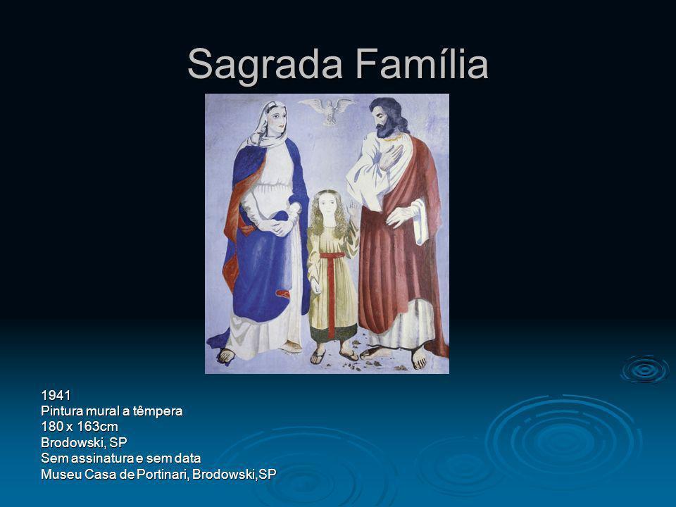 Sagrada Família 1941 Pintura mural a têmpera 180 x 163cm Brodowski, SP