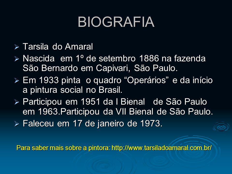 BIOGRAFIA Tarsila do Amaral