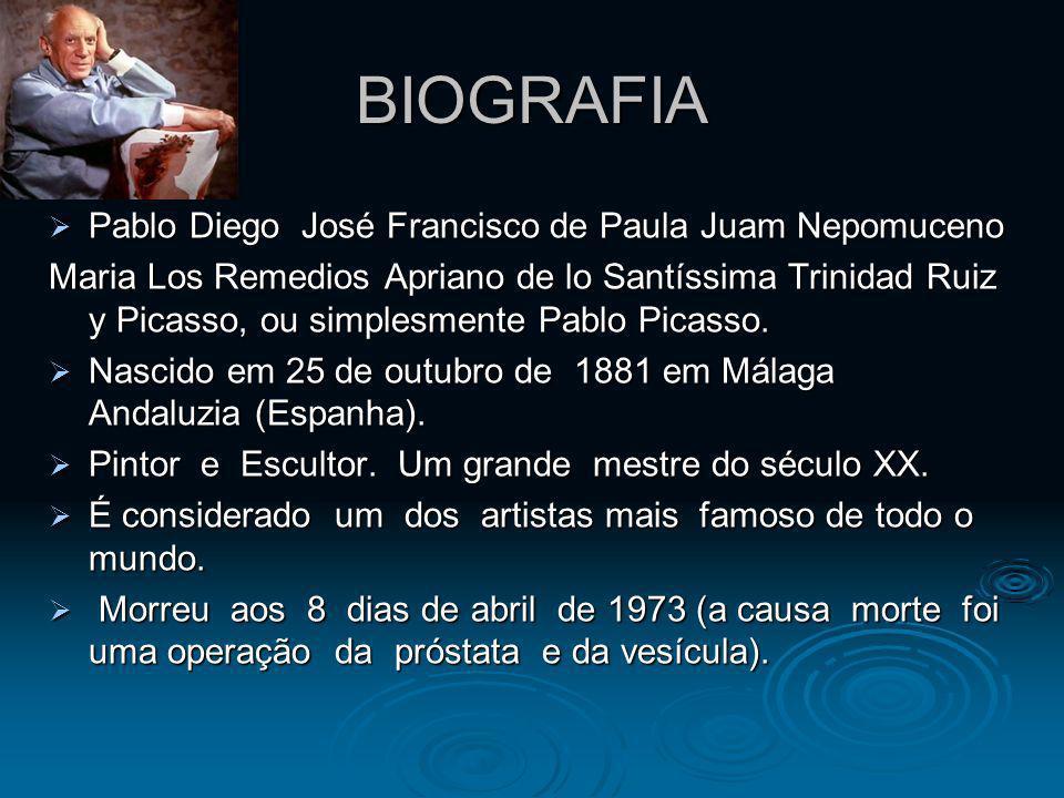 BIOGRAFIA Pablo Diego José Francisco de Paula Juam Nepomuceno