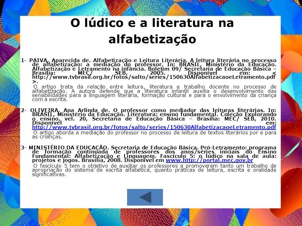 O lúdico e a literatura na alfabetização
