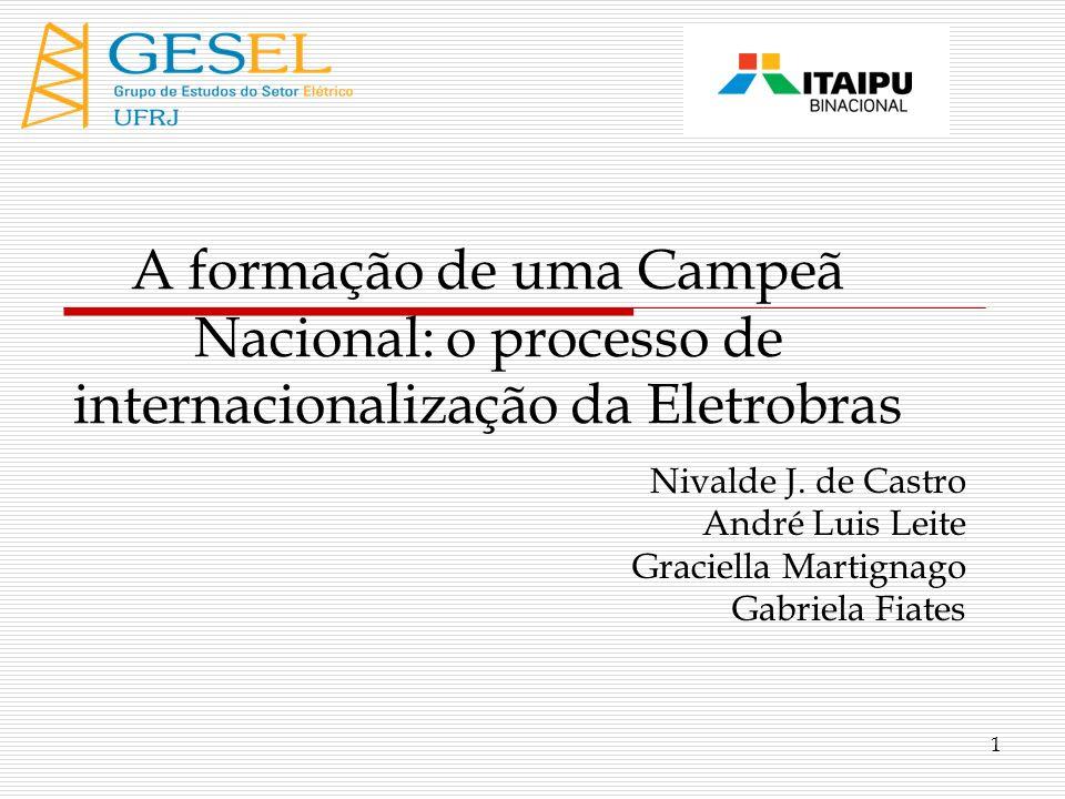 A formação de uma Campeã Nacional: o processo de internacionalização da Eletrobras