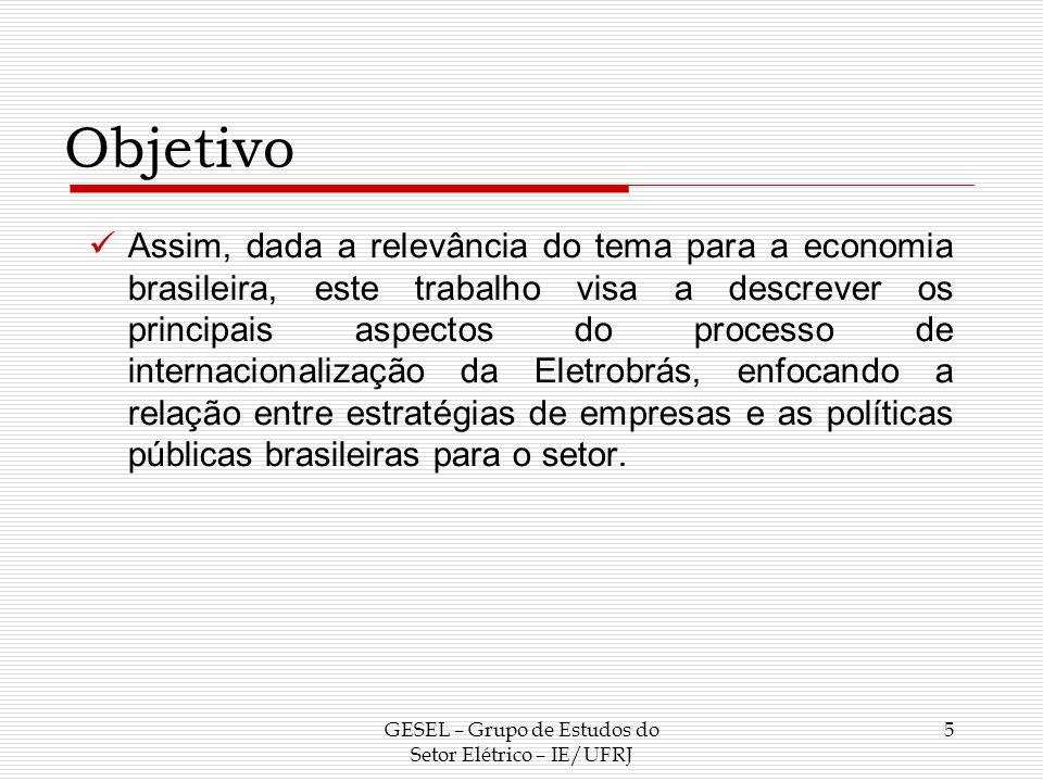 GESEL – Grupo de Estudos do Setor Elétrico – IE/UFRJ